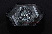 leichte tarnung großhandel-Hochwertige relogio Camouflage Herren Sport AUTO LIGHT Uhren Luxus Herrenuhr LED Militäruhr Digitaluhr