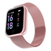 Wholesale ip68 smart watch online – Women Fashion T80 Smart Watch Ip68 Waterproof Heart Rate Blood Pressure For Iphone Men Sport Fitness Tracker Smartwatch PK IWO