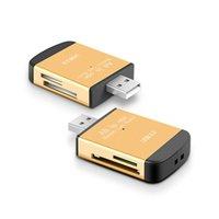 carte ms achat en gros de-Tout en un lecteur de carte mémoire USB 2.0 multi pour Micro TF M2 MMC SDHC MS Memory Stick Hot Worldwide