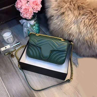 Wholesale genuine leather fashion handbag resale online - 2019 hot sale women designer handbags luxury crossbody messenger shoulder bags chain bag good quality pu leather purses ladies handbag