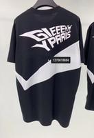 ingrosso camicie bianche nere-19ss Luxury Europe GVC Alphabetic White Strip stampato uomo T-shirt nera a maniche corte Moda Uomo Donna T Shirt di alta qualità ZDL 89.