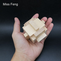 Wholesale geometric learning toys resale online - SQ070 Wooden Geometric Shape Montessori Cage Puzzle For Kid Toys School Learning Educational Game Kong Ming Lock