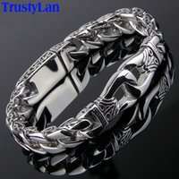 Wholesale music wedding rings for sale - Group buy Trustylan Fashion New Stainless Steel Charm Bracelet Men Vintage Totem Mens Bracelets Cool Male Jewelry Jewellery Armband Y19051302