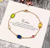 ingrosso fascini in ottone braccialetto-Braccialetto di design con parigi in materiale ottone di alta qualità con decoro in cristallo singolo braccialetto 15.5 + 2.5cm con charm per donne e regalo madre je