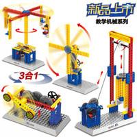 oyuncakları bir araya getirmek toptan satış-Uyumlu Robot Bilim ve Teknoloji Serisi Montaj ve Montaj Elektrik Yapı Taşları Mekanik Grubu Elektronik Dişli Oyuncaklar