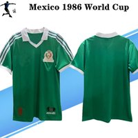 Wholesale mexico national team resale online - Thailand world cup Mexico retro soccer jersey Mexico national team Hugo Sanchez Negrete classic vintage football shirt