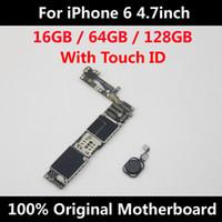 elma mantığı toptan satış-IPhone 6 için 4.7 inç Anakart Kilidini Anakart Dokunmatik KIMLIK Ile Tam Fonksiyonu 100% Orijinal IOS Yüklü Mantık Kurulu