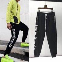 kadınlar için harem tarzı pantolon toptan satış-Yeni Stil Palm Melekler Pantolon Erkek Kadın Büyük Mektup Logosu Yüksek Kaliteli Pamuk Streetwear Hip Hop İpli Palm Melekler Sweatpants