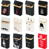 couverture de paquet de cigarette de silicone achat en gros de-Tenir 20 Cigarettes Dames Silicone Cigarette Case Cover Homme Femmes Fumer Cigarette Box Sleeve Poche Cigarettes Pack Cover Gift