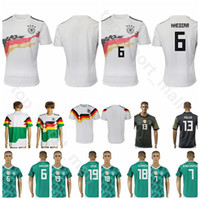 317ca2266 Men Soccer 18 GORETZKA Jersey Germany Green White Grey 21 GUNDOGAN 2 KEHRER  19 GOTZE 11 KLOSE 16 LAHM Football Shirt Kits Uniform