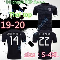 jerseys de fútbol xxxl al por mayor-S-4XL H. LOZANO 2019 Copa de oro México camisetas de fútbol blackout G. DOS SANTOS VELA CHICHARITO camisetas de fútbol JIMENEZ MARQUEZ CARVOS V. RAUL