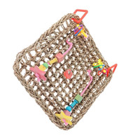 Wholesale toy network for sale - Group buy Parrot To Climb Network Natural Straw Plaited Article Parrot Hammock Toys Swing Ash Parrot To Climb Toys Gnaw Toys