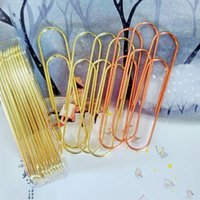 Wholesale metal clip bookmark for sale - Group buy 24 large size cm metal paperclips mm clip bookmark factory direct supply the lowest price