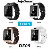 u8 smartwatch sim оптовых-SmartWatch DZ09 Android GT08 U8 A1 Samsung умные часы NFC SIM Интеллектуальные часы мобильного телефона могут записывать Умные часы с пакетом