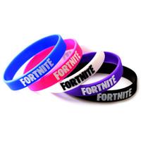 armband begünstigt großhandel-Fortnite Band Armbänder Silikon Armband Cartoon Spiel Fortnite Silikon Armband für Kinder Geburtstag Party Favors 5 Farben