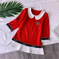 ropa romana al por mayor-Las niñas de alta gama más vendidas visten ropa de primavera nueva para niños niñas algodón romano vestido de manga larga vestido de alta gama para niños