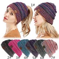 Wholesale knitting crochet hair band resale online - women Hat Knitted Headband Winter Warmer Head Wrap Hairband Acrylic Crochet Fashion Hair Band Beanie Accessories hot Cap klwh13