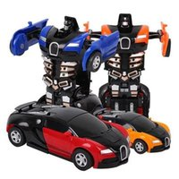 Wholesale cool action figures resale online - Children Toys Movie Action Figure Transformation Car Models Deformation Robots Friction Powered Changeable Toy cool