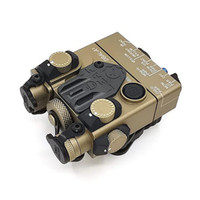 ingrosso laser tattico-Tactical DBAL-A2 AN / PEQ-15A IR (infrarossi) con laser rosso Vieni con interruttore Reomote Fucile da caccia Illuminatore IR