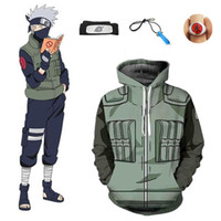 Wholesale naruto kakashi hatake cosplay costume resale online - Asian Size Japan Anime Naruto Hokage Hatake Kakashi Unisex Cosplay Costume Halloween Jacket Hoodie Uniform Full Set