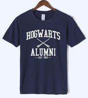 plus größenneuheitst-shirts großhandel-Hogwarts Alumni T-Shirt Männer Frauen Harry Lustige Potter T-shirts Neue Neuheit Designer Kurzarm Oansatz Baumwolle T-shirts Plus Größe