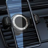 freie handzelle großhandel-Handyhalterung Freisprecheinrichtung Lüftungsschlitze Autohalter Universal Autohalterung Kompatibel Galaxy Note 9 / S10 Plus / S9