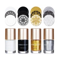 Wholesale polish stamping manicure plates resale online - NICOLE DIARY ml Bottle Nail Stamping Polish Nail Art Lacquer Varnish Manicure Polish for Stamping Plates Tools