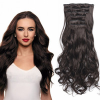 Wholesale human hair mixed synthetics resale online - Sara Clip in Kinky Curly Hair Extension SimilarTo Human Hair Pieces Clips For Lady Women Clip ins Curly Hairpieces Extensions CM Inch