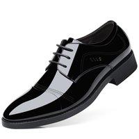 bonne tenue achat en gros de-Pop Nice Grande Taille Hommes Chaussures En Cuir Hommes À Lacets Up-Toe Chaussures Habillées Habillées Grand Slip-On Casual Bureau Surface Appartements
