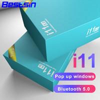 llama auricular al por mayor-Bestsin Auricular Bluetooth TWS Biaural Llamada V5.0 Compatible con funciones táctiles con la caja de carga Para teléfonos inteligentes
