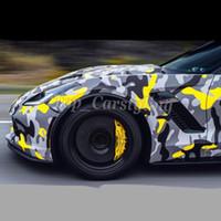 camuflagem da folha de carro venda por atacado-atacado preto cinza amarelo camo da neve camuflagem carro envoltório adesivos folha com bolha livre tamanho 1.52x10 m / 20 m / 30 m disponível