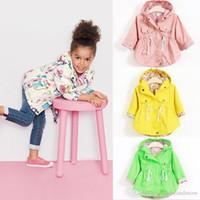 hoodie de la mode coréenne livraison gratuite achat en gros de-Livraison Gratuite Automne Vestes Pour les filles Nouveau 2016 version Coréenne Marque Chemise À Pois Bat Chemise Manteau 5pcs / lot Enfants Hoodies