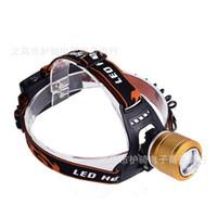 miner scheinwerfer großhandel-Doppelte Lichtquelle Scheinwerfer Led Miner Lichter T6 Starke Outdoor Charge Long Shot Wasserdichte Farben Mix 18qsf1