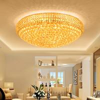 pequeñas luces de techo del pasillo al por mayor-Candelabros de cristal LED candelabro de cristal de lujo noble de oro de alta clase K9 vestíbulo del hotel villa candelabros colgantes led con bombillas