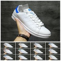 Wholesale top brand shoes boots for sale - Group buy Top quality Smith shoes Brand mens womens stan casual leather sports sneakers Skateboard running shoes size eur
