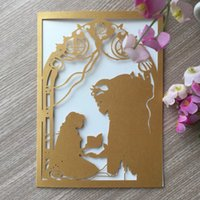 Wholesale beauty beast wedding resale online - 25PCS Beauty And Beast Pattern With Wedding Invitation Card Birthday Party Gift Cards Bridal Shower Happiness Greeting Cards