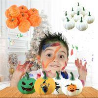 Wholesale toys dishes resale online - Halloween Simulation Kid Toy Pumpkin Fruit Artificial Fake Vegetable Fruit Model Foam Fruit Dish House Kitchen Party Decorations