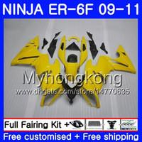ingrosso corredo del corpo giallo di kawasaki giallo-Corpo Luce giallo caldo Per KAWASAKI NINJA 650R ER-6F ninja650 ER6F 09 10 11 252HM.13 Ninja650R ER6 F ER 6F 2009 2010 Kit carene 2011 + 7Gifts