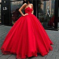 mutterschaft quinceanera kleider großhandel-Sweet 16 Red Quinceanera Dresses Ballkleid Liebsten Ärmellos Rüschen Tüll Puffy Abendkleider Plus Size Mutterschaft Kleid BC1073