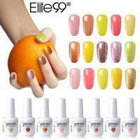 gelber lack großhandel-Elite99 15ml Gelbe Farbe Nagelgel Lacke Nail Art Design Maniküre Tränken weg vom Emaillegelpoliermittel LED UV-Lack