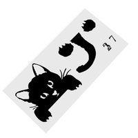 Wholesale parlor sticker resale online - Cute Cat Switch Stickers Wall Stickers Home Decor Bedroom Parlor Decoration Switch Sticker PVC Home Decal Mural Art Wallpaper