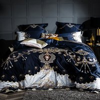 хлопок одеяло оптовых-2018 100% washed cotton Bedding Set plaid Duvet Cover Set Super Soft Quilt Cover queen size Bedclothes 4 Pieces Hot