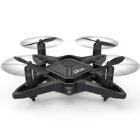 helicóptero de control remoto real al por mayor-2.4G Mini RC Drone con altura fija Wifi Transmisión en tiempo real Plegable Modo sin cabeza Quadcopter Helicóptero juguete de control remoto