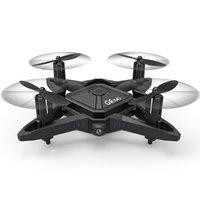 gerçek uzaktan kumandalı helikopter toptan satış-Sabit Yükseklik ile 2.4G Mini RC Drone Wifi Gerçek zamanlı Iletim Katlanabilir Başsız Modu Quadcopter Helikopter Uzaktan Kumanda Oyuncak