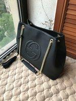 sacs à bandoulière achat en gros de-2018 vente chaude grande taille chaîne sac à bandoulière avec grand sac portable composite gland en bandoulière sac à provisions portable en cuir