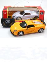 brinquedo de carro de controle sem fio venda por atacado-Atacado-2 canais rc carro sem fio carros de controle remoto de rádio brinquedos elétricos para meninos máquina para controle remoto modelo de carro presente