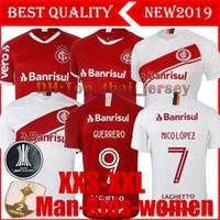 top club jersey venda por atacado-NOVO 19 120 Brasil CLUB Internacional camisa de futebol RED HOME mulheres 2019 fora camisa de futebol N. LOPEZ D.ALESSANDRO POTTKER TOP QUALITY