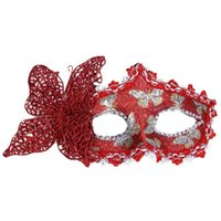 Wholesale girls face masks resale online - 2019 new Sexy Butterfly Ball Mask Mask for Girls Women Masquerade Dancing Party Beautiful half face Mask