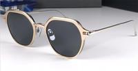 gafas de sol redondas al por mayor-Nuevo diseñador de moda gafas de sol 812 marco redondo simple flip óptico de doble uso estilo popular uv400 protección gafas al por mayor de calidad superior