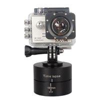caméras tournantes achat en gros de-360 degrés de rotation de la base de la tête du trépied, stabilisateur de 120 laps de temps écoulé pour Gopro 6 5 4 3+ 3 caméras de sport Sjcam Xiaoyi